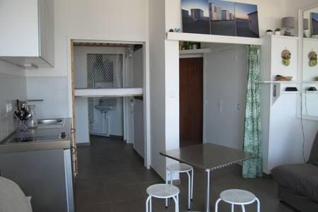 Studio vue mer et parking en centre-ville - Apartamento