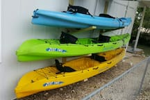 Three 2-person kayaks are always at the home for guest to enjoy. No extra charge of course.