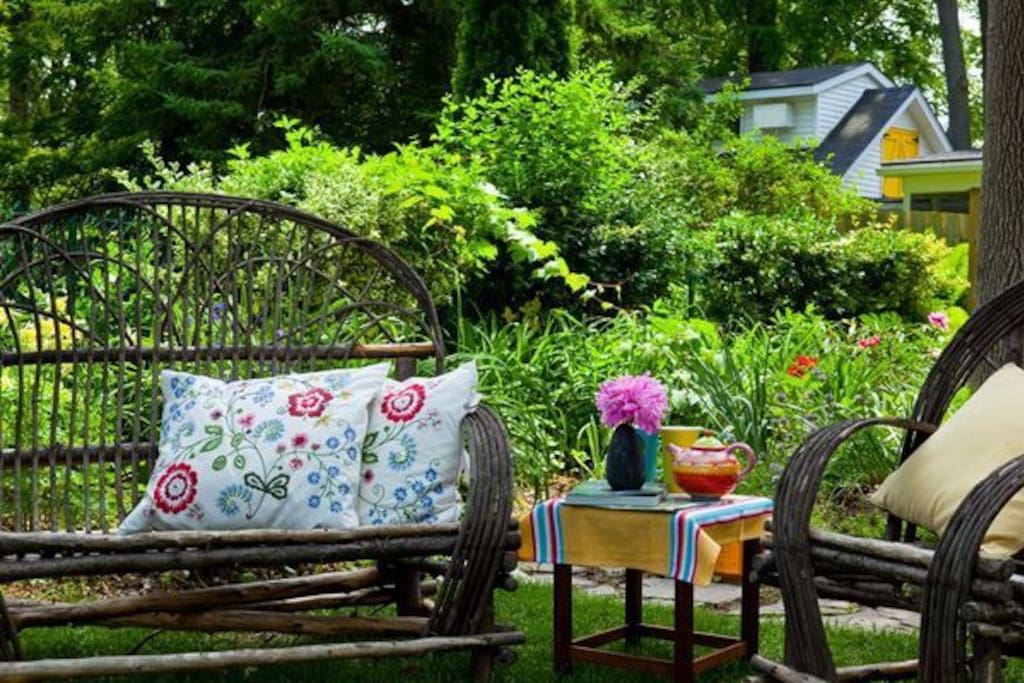 Sit a while and enjoy our beautiful gardens