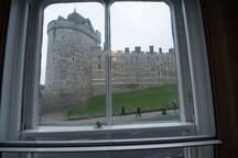 Castle view from the lounge