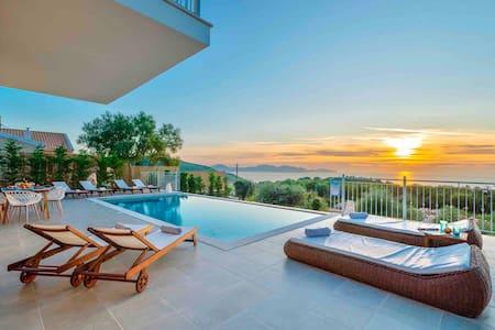 New Stone Villa Suzana,with sunset view!