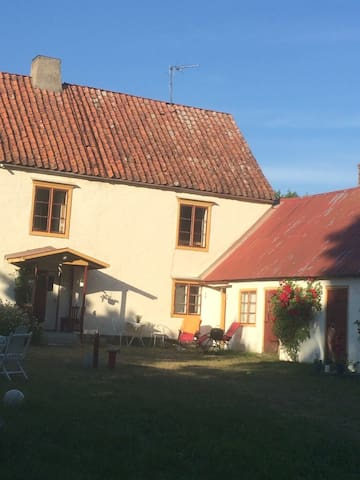 Typical 19th century house at south of Gotland
