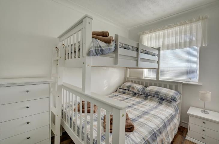 Bedroom 2 - Double bed + standard size bunk bed