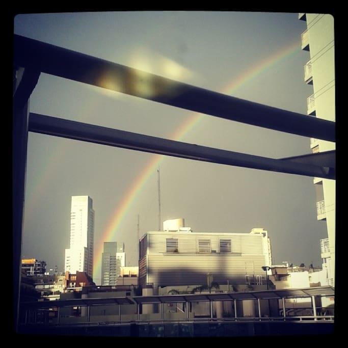 Rainbow at solarium