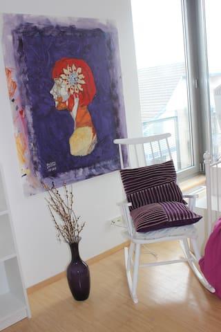 Violettes Zimmer - Über den Dächern von Frankfurt - Frankfurt am Main - Apartment