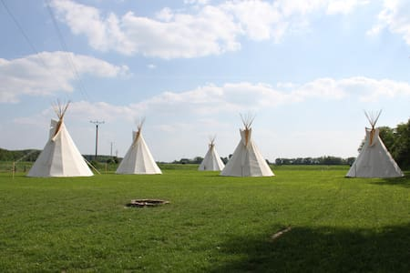 Teepee on Little Danube riverbank - Nový Život