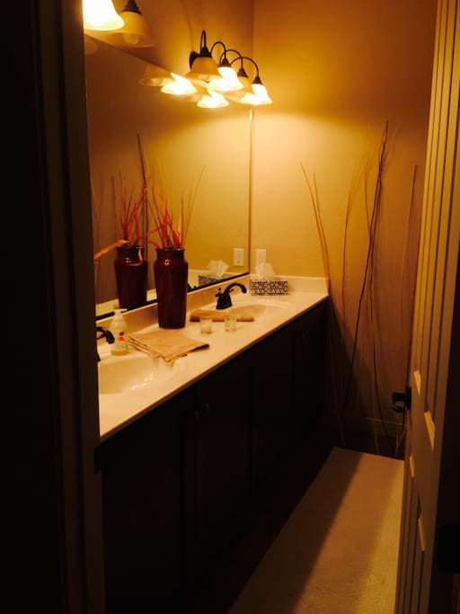 Full private bath with great shower and double vanity