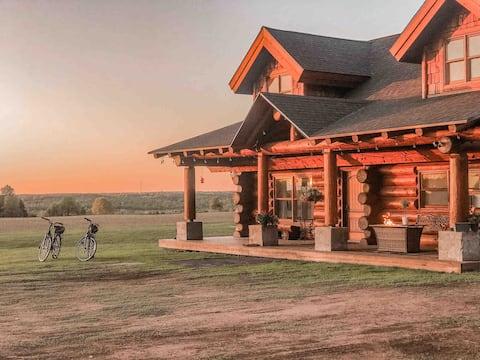 Potato River Falls Log Cabin Retreat 130 Acres