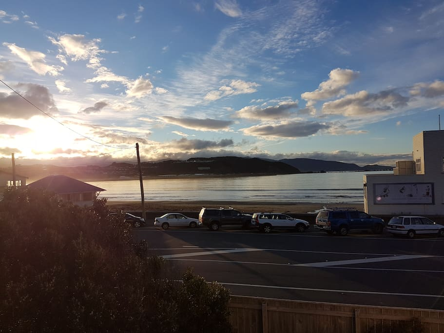 Lyall Bay (View from the balcony/master bedroom/living room)