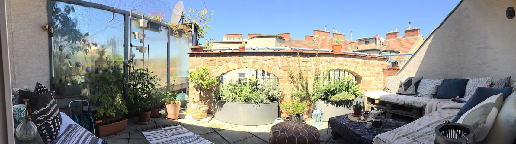 spacious BR, central location w/ ♡ rooftop terrace