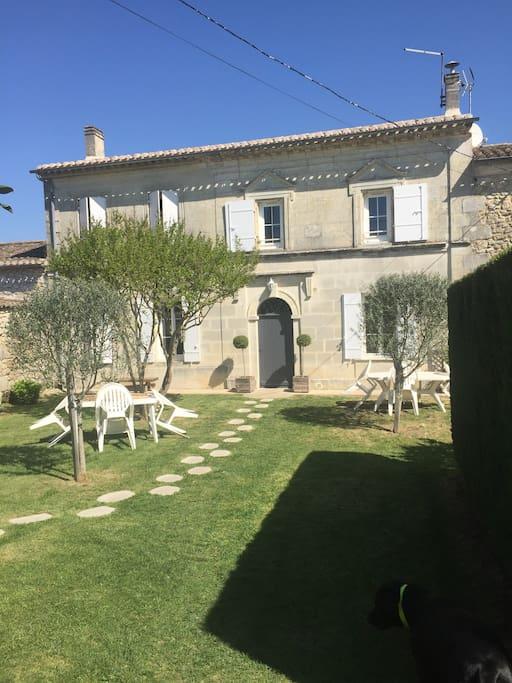 Maison typique girondine villas louer saint aignan nouvelle aquitaine - Maison typique bordeaux ...