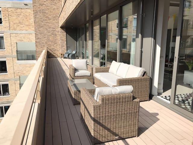 Spacious modern apartment (140m2) w large balcony - Amsterdam - Apartemen