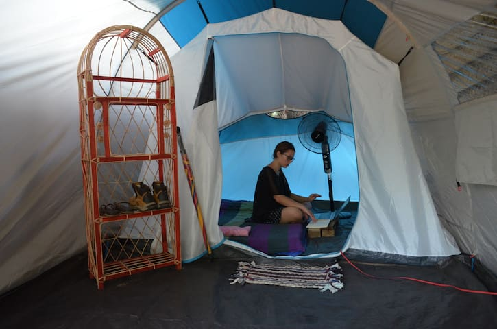Tent Room - Lagoon/Beach Front @ Kite House Cafe