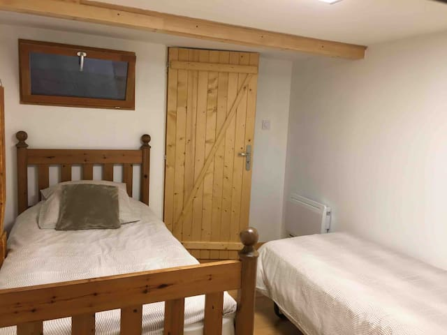 Bedroom 2 is perfect for children with 2 single beds
