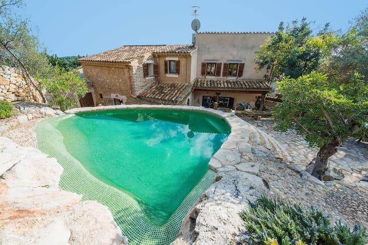 Raco de Binibona - enchanting stone house & pool - Caimari - 別荘