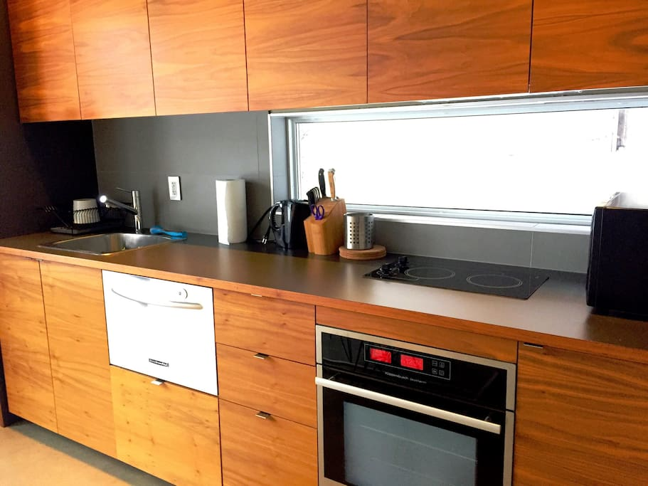 Kitchen has everything you need to feel at home