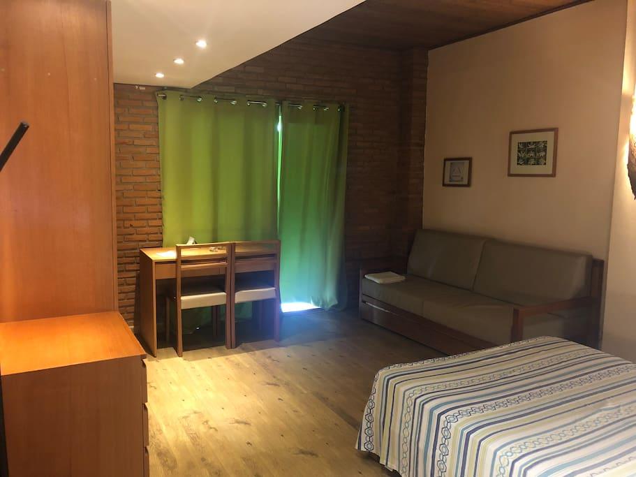 Main room - wardrobe area