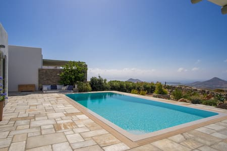 Top hill Villa Joy with private pool, great views - Kostos - Huvila