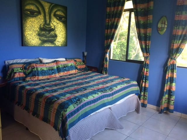 """Blue room , king bed or can be adapted to 2 singles 39"""" beds"""