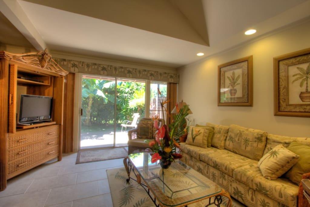 Living area looking to lanai
