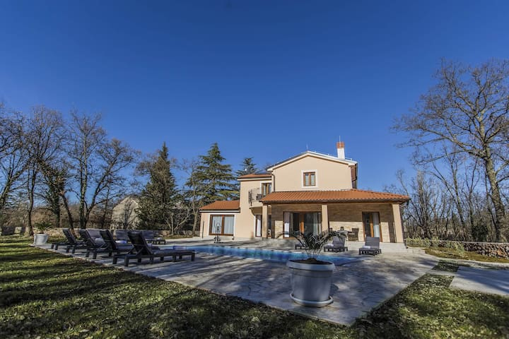 Villa Fosca with swimming pool in heart of Istria - Orbanići - Ev