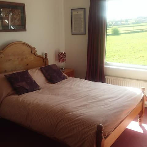 sunny bedroom in Nidderdale village home