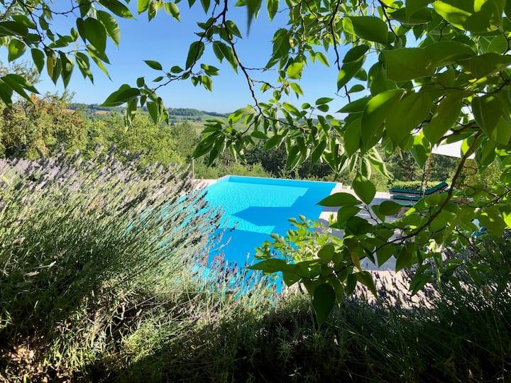 Beautiful views!  Infinity pool, Stone barn