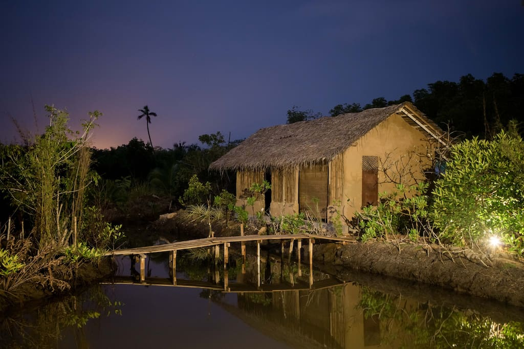 Nature of our home...Night view of spa ...
