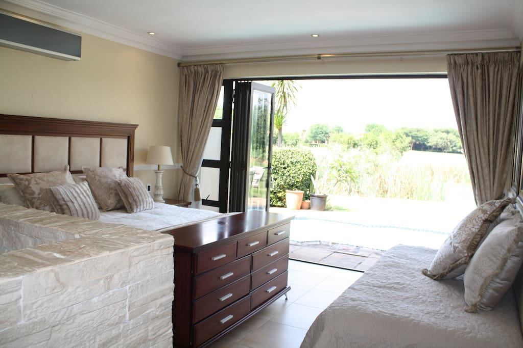 Main Bedroom with exquisite view of an Internal Lake