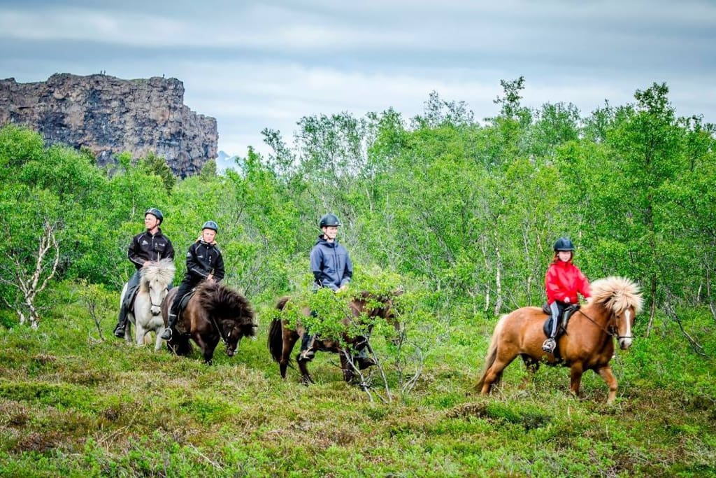 Riding in the National park