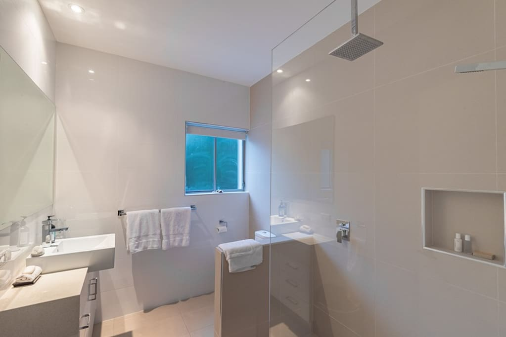 Private ensuite with double shower