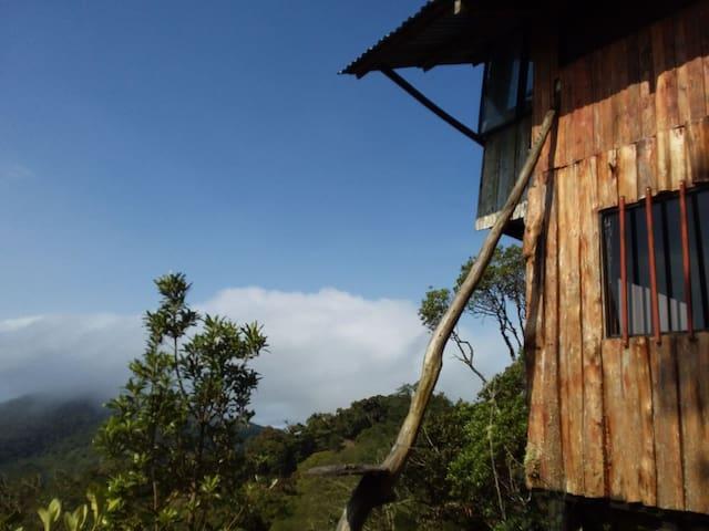 Costa Rica, Zarcero Vista al Valle del Arenal.