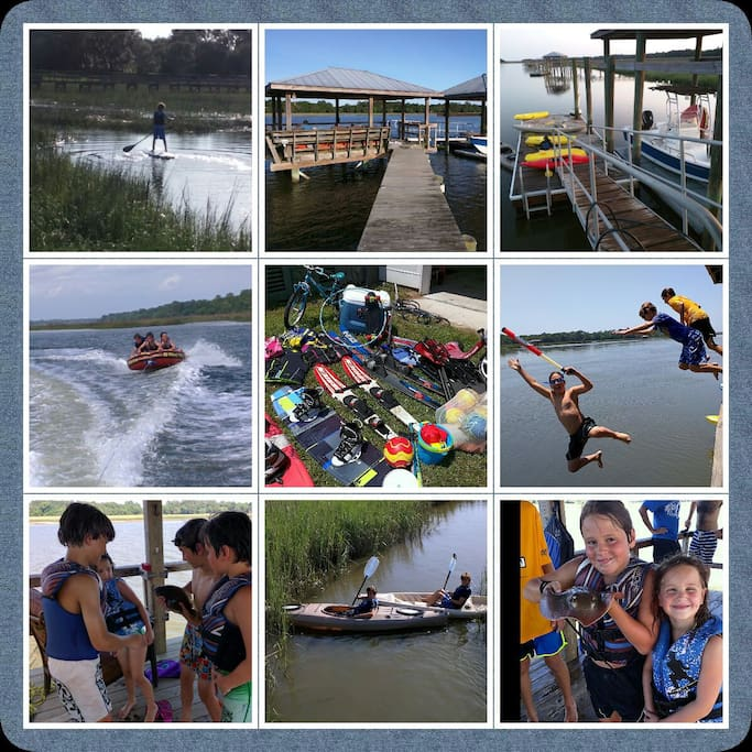 Instant Vacation Package! Wakeboards, life jackets, kayaks, paddleboards, etc.