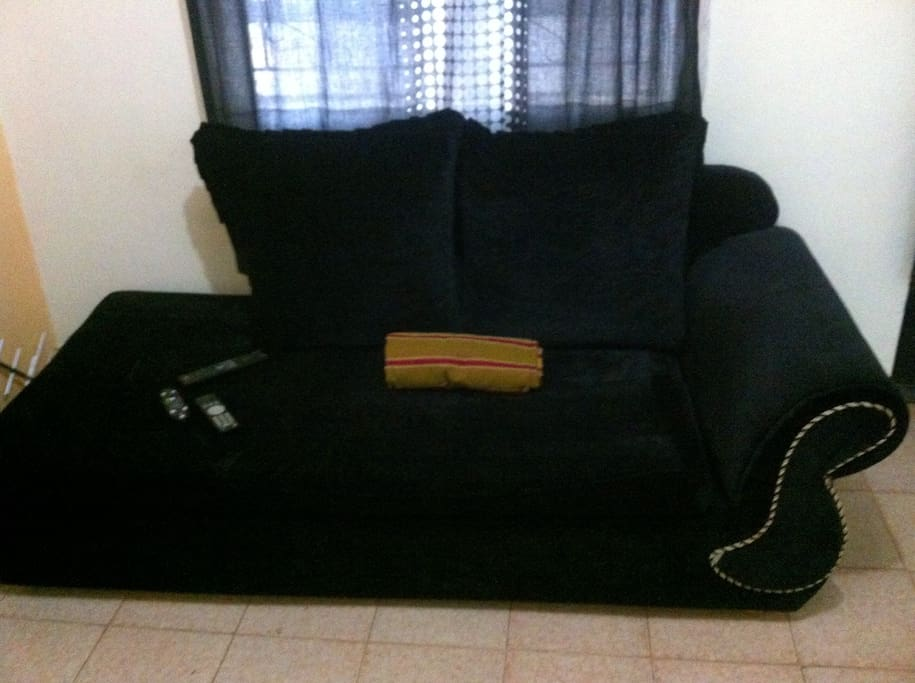 Comfy sofabed among others safas......................also carpet and large cushions on the floor is available ............on request for those who want to have a feel of Somali/Swahili and Arab ......lifestyle.