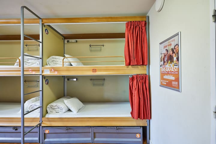 Bed in 10-Bed Mixed Dorm
