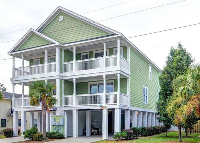 Surfside House w/ Pool, Golf Cart, Close to Beach