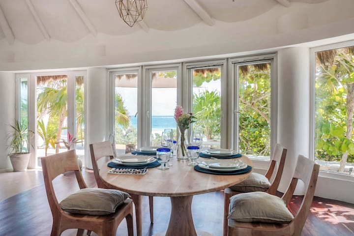 Dine with an ocean view indoors or out.