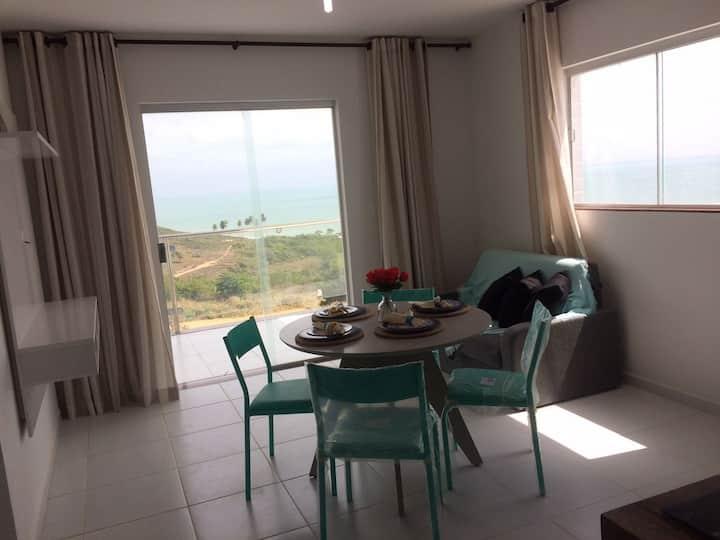 Lindo apartamento com vista belíssima para o mar