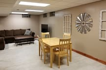 Spacious and bright basement great for games and movies.