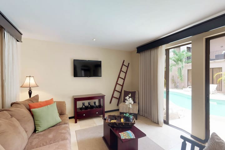 Two condos w/shared pool, tennis, fitness center-close to the beach