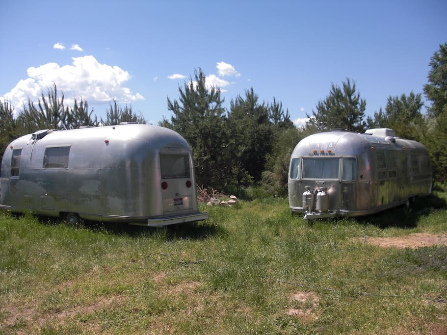 Vintage Airstream - On the left is the 1967 Safari, 22 foot trailer.