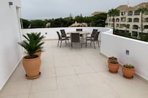 Master terrace at top floor and the best view of the Mediterranean