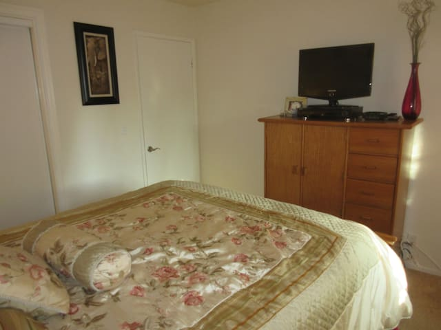 Private bedroom includes cable TV + DVD player