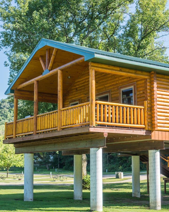 Log Cabin Overlooking Scenic River