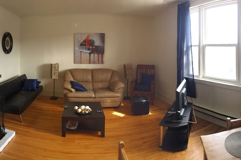 More of a panorama of living area