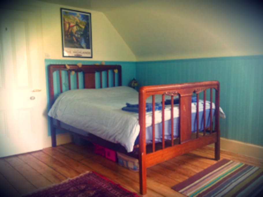 Victorian, comfortable double bed