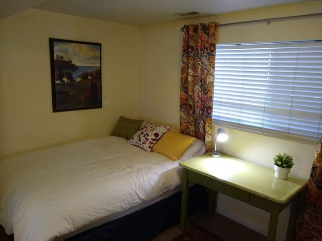 European inspired bedroom