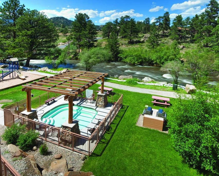 Take a dip in the pool as you heat up the BBQ and the kids play in the playground