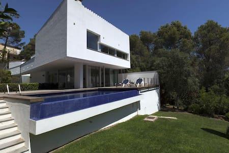 Tamariu modern villa: pool, sea view, near beach - Tamariu