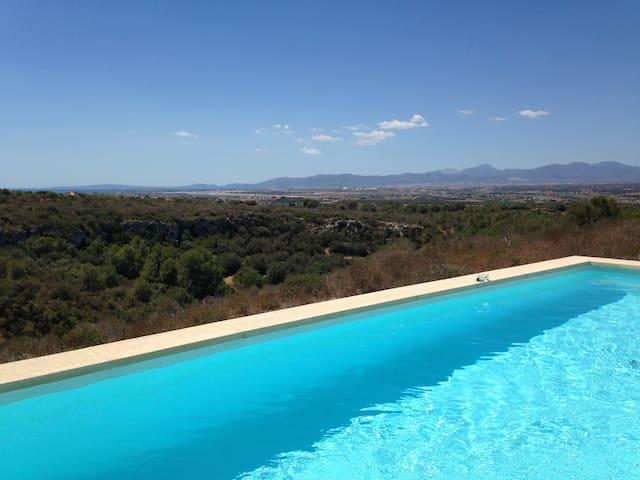 Finca mit sensationellem Blick Bucht- Stadt- Berge - Palma - Casa